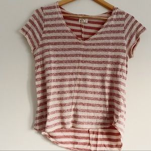 Project Social T PST V Neck Striped Tee